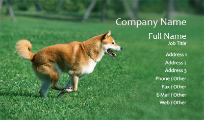 Running Dog Business Card Template